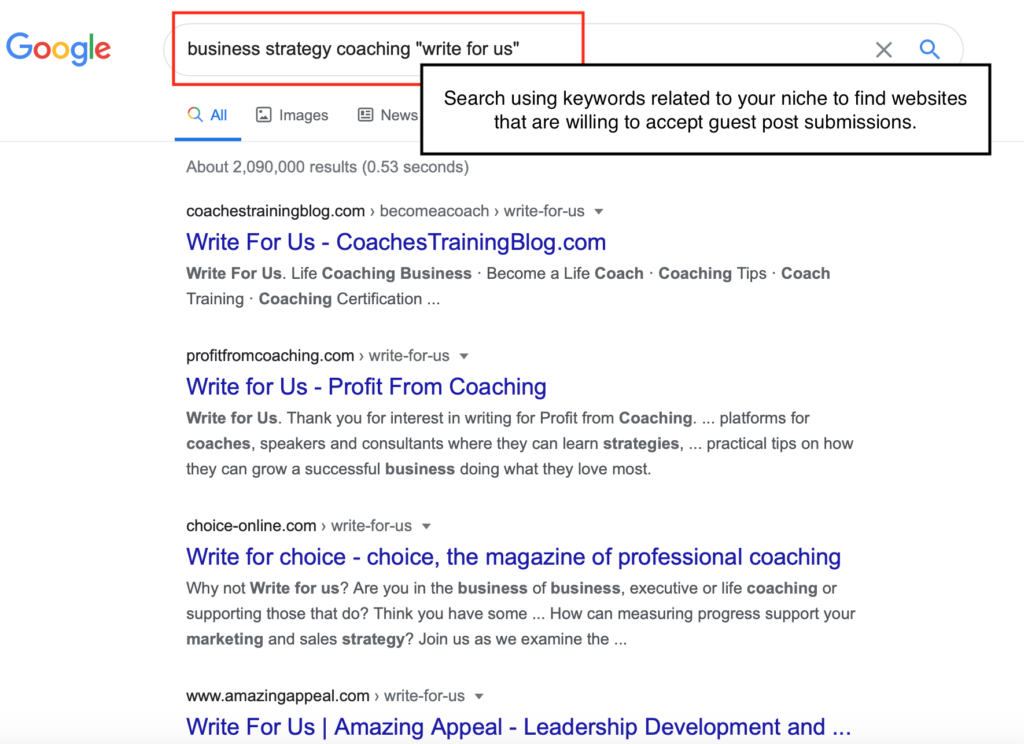 Find guest post opportunities